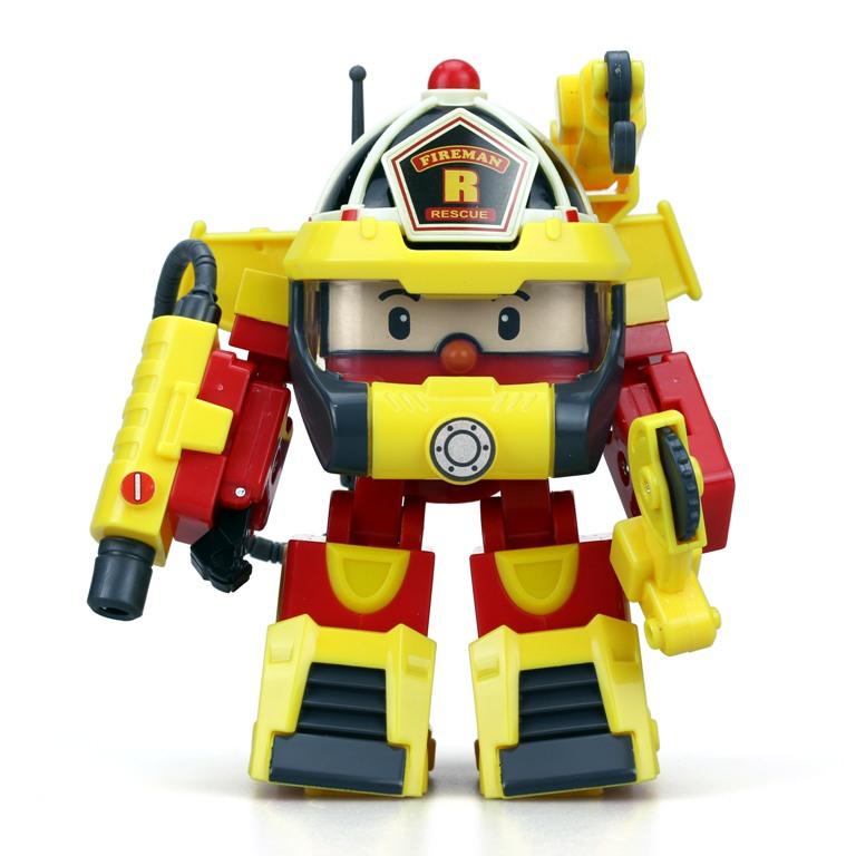 Рой трансформер 10 см + костюм супер пожарногоИгрушки трансформеры<br>Рой трансформер 10 см + костюм супер пожарного<br>