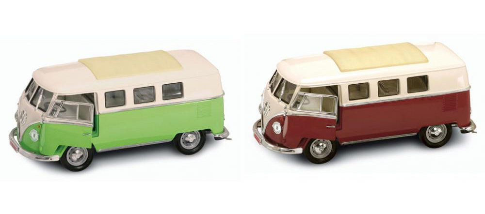 Коллекционный автомобиль 1962 года - Фольксваген микроавтобус, масштаб 1/18Volkswagen<br>Коллекционный автомобиль 1962 года - Фольксваген микроавтобус, масштаб 1/18<br>