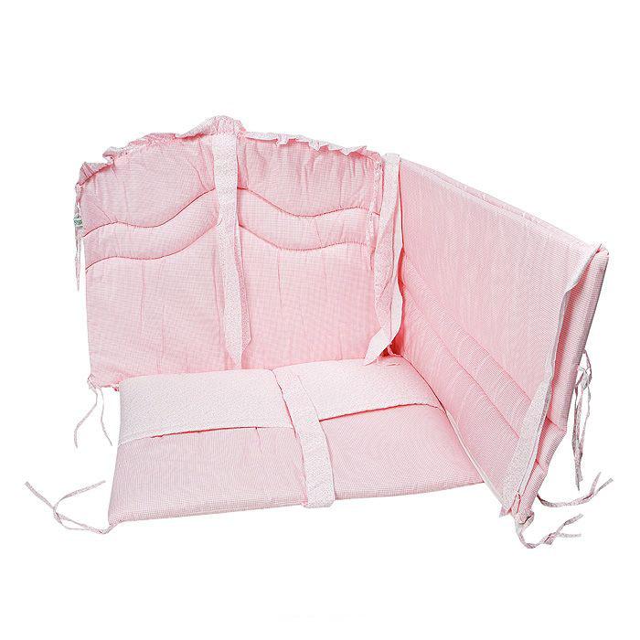 Борт в кроватку – Мечта, розовыйБампер в кроватку<br>Борт в кроватку – Мечта, розовый<br>