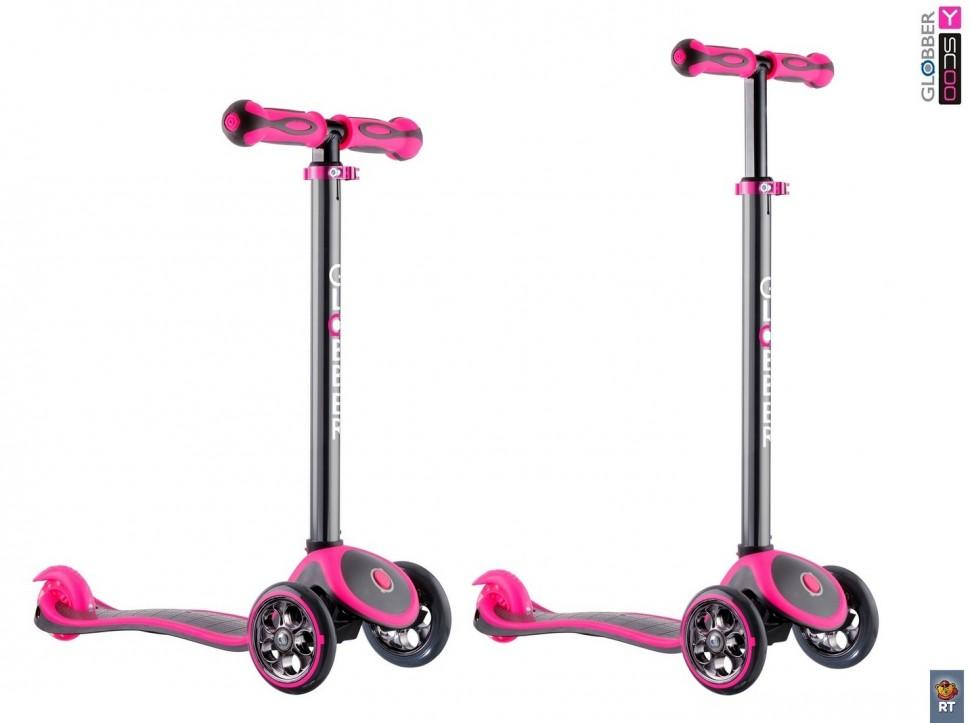 Купить Самокат GLOBBER My free Titanium neon pink с блокировкой колес