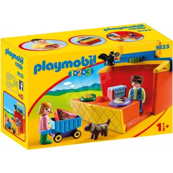 Купить Игровой набор из серии 1.2.3. Возьми с собой - На рынке, 10 деталей, Playmobil