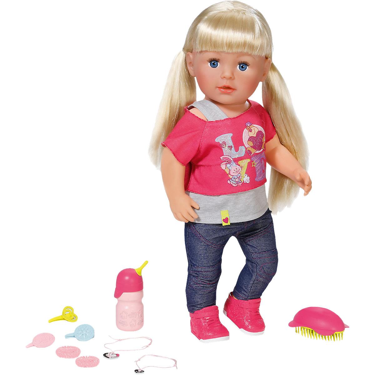 Интерактивная кукла Беби Бон Сестричка, 43 смКуклы-пупсы Baby Born<br>Интерактивная кукла Беби Бон Сестричка, 43 см<br>