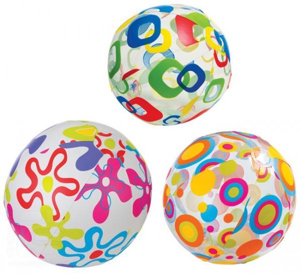 Надувной мяч – Узоры, диаметр 61 см.Надувные животные, круги и матрацы<br>Надувной мяч – Узоры, диаметр 61 см.<br>