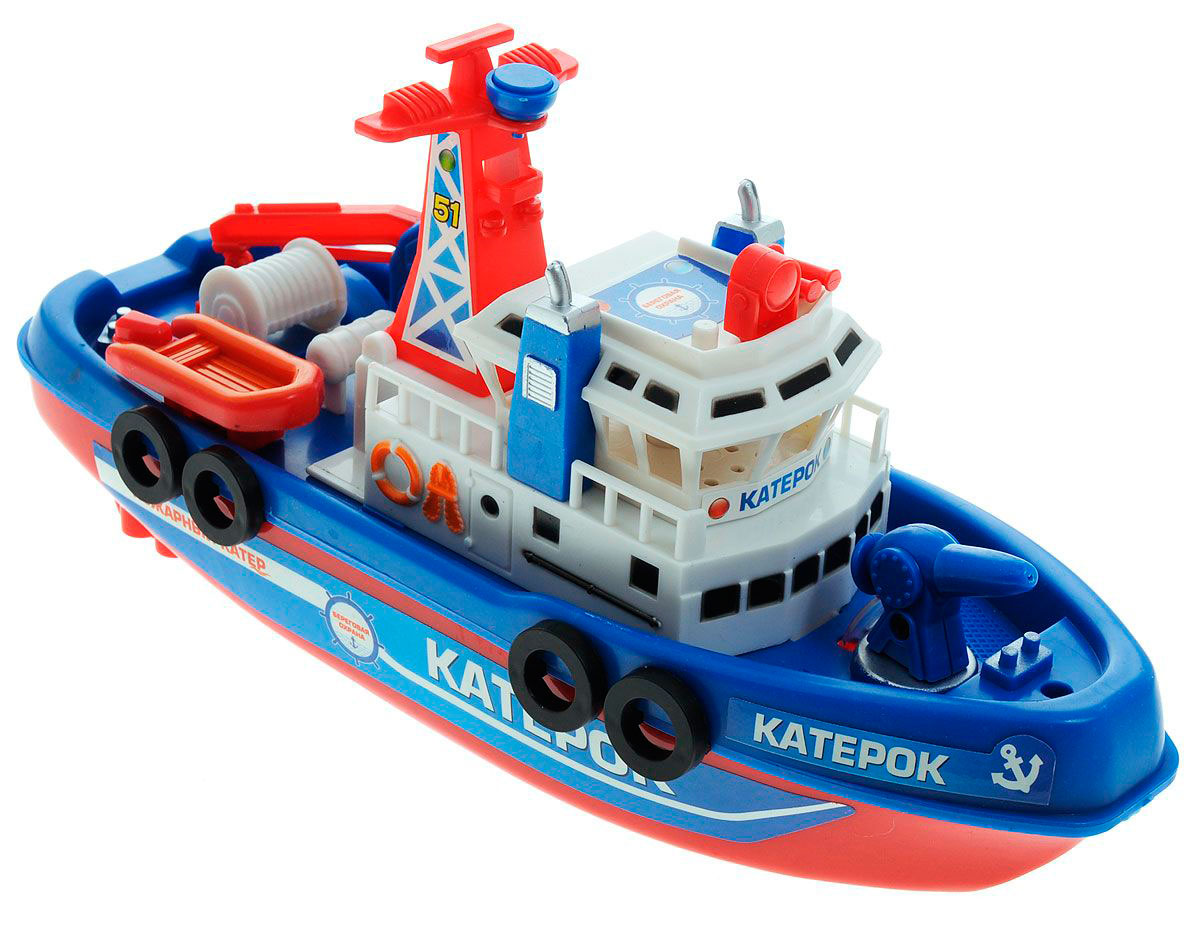 Катер Пожарный, электромеханическийКорабли и катера в ванну<br>Катер Пожарный, электромеханический<br>