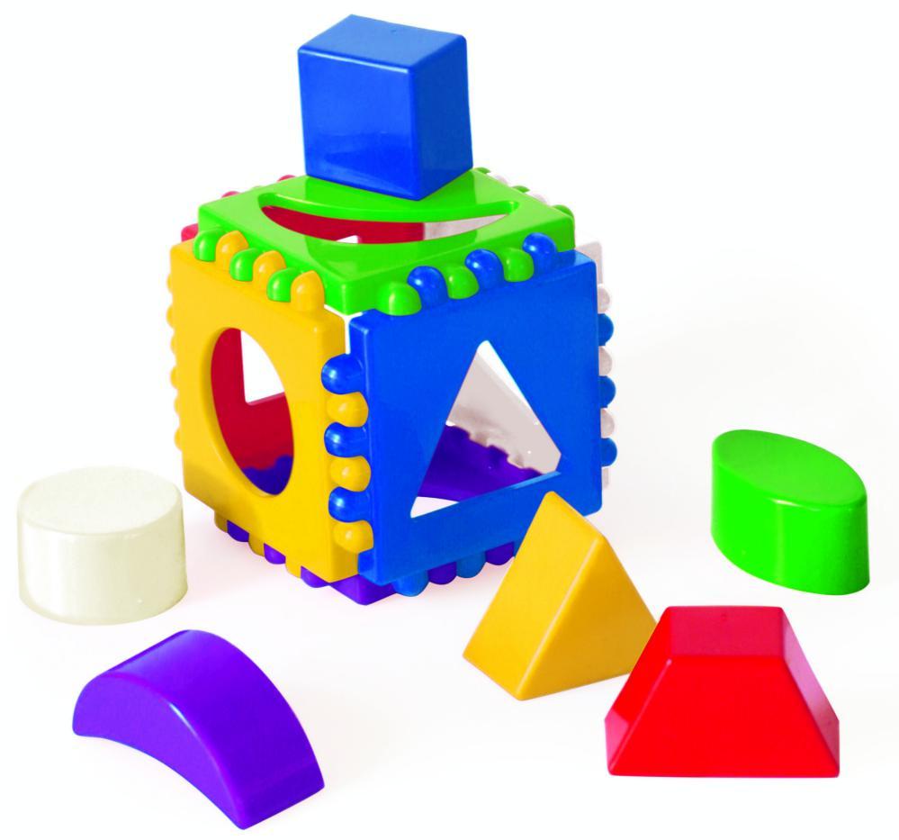 Купить Сортер – Логический куб, Рыжий Кот