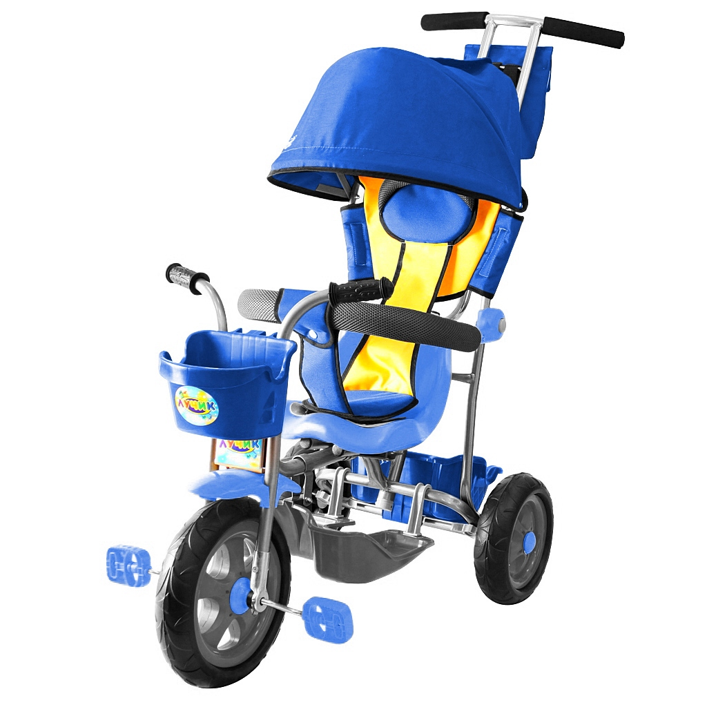 3-х колесный велосипед Galaxy Лучик Л001 с капюшоном, синийВелосипеды детские<br>3-х колесный велосипед Galaxy Лучик Л001 с капюшоном, синий<br>