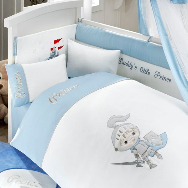 Комплект постельного белья и спальных принадлежностей из 6 предметов серии Little PrinceДетское постельное белье<br>Комплект постельного белья и спальных принадлежностей из 6 предметов серии Little Prince<br>