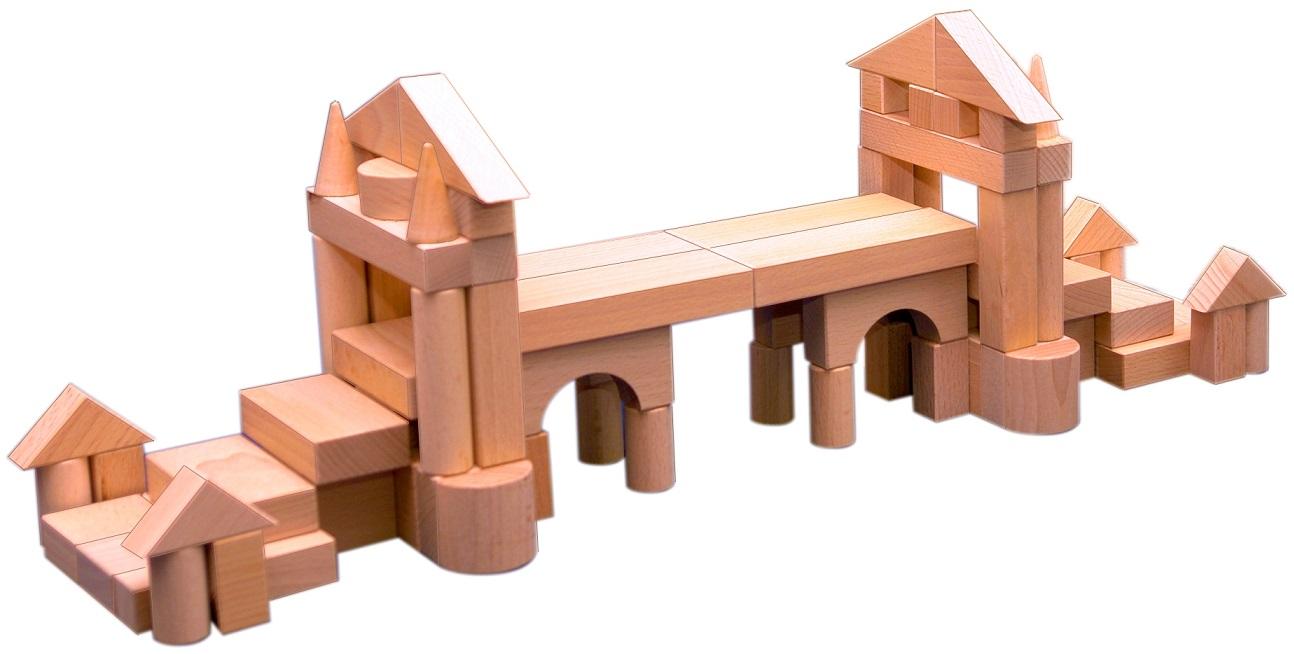 Конструктор деревянный, 90 деталейДеревянный конструктор<br>Конструктор деревянный, 90 деталей<br>