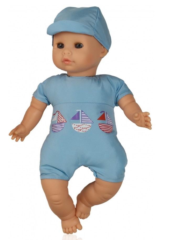 Кукла Малыш в голубом, 34 смИспанские куклы Paola Reina (Паола Рейна)<br>Кукла Малыш в голубом, 34 см<br>