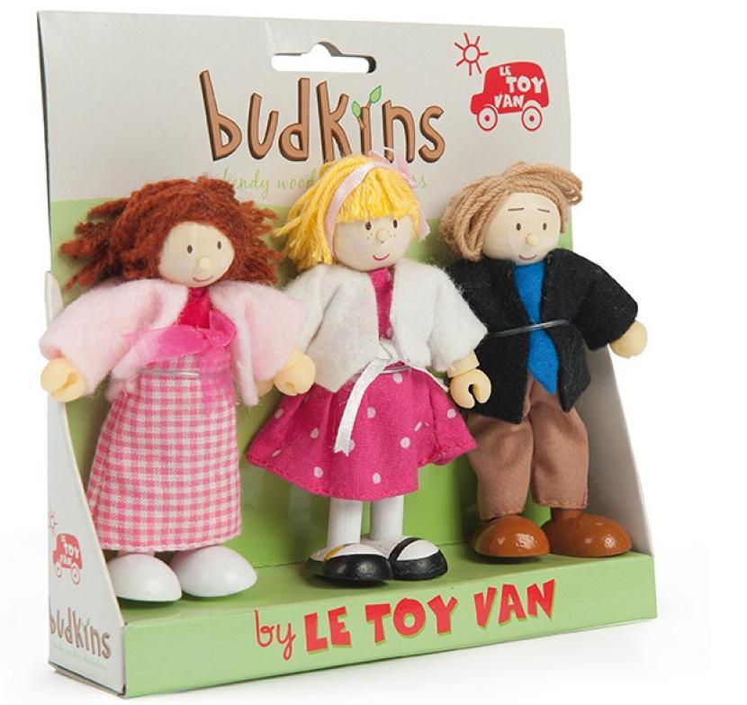 Набор кукол из дерева с одеждой – СемействоКукольные домики<br>Набор кукол из дерева с одеждой – Семейство<br>