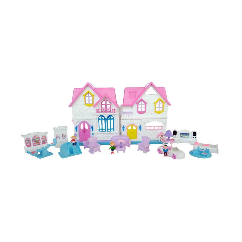 Дом для кукол – Sweety Home с мебелью, машиной и фигурками, свет, звук
