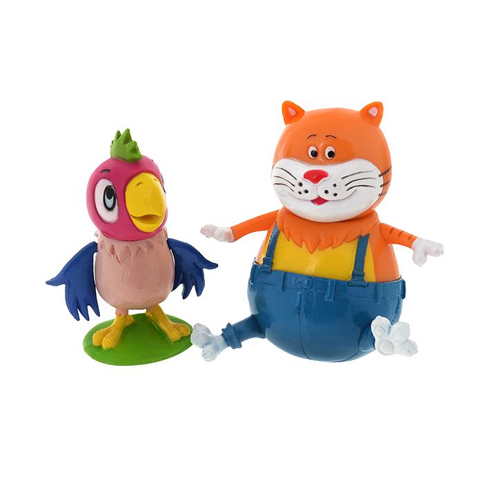 Купить Набор из 2 фигурок: попугай Кеша и Кот Василий, Играем вместе