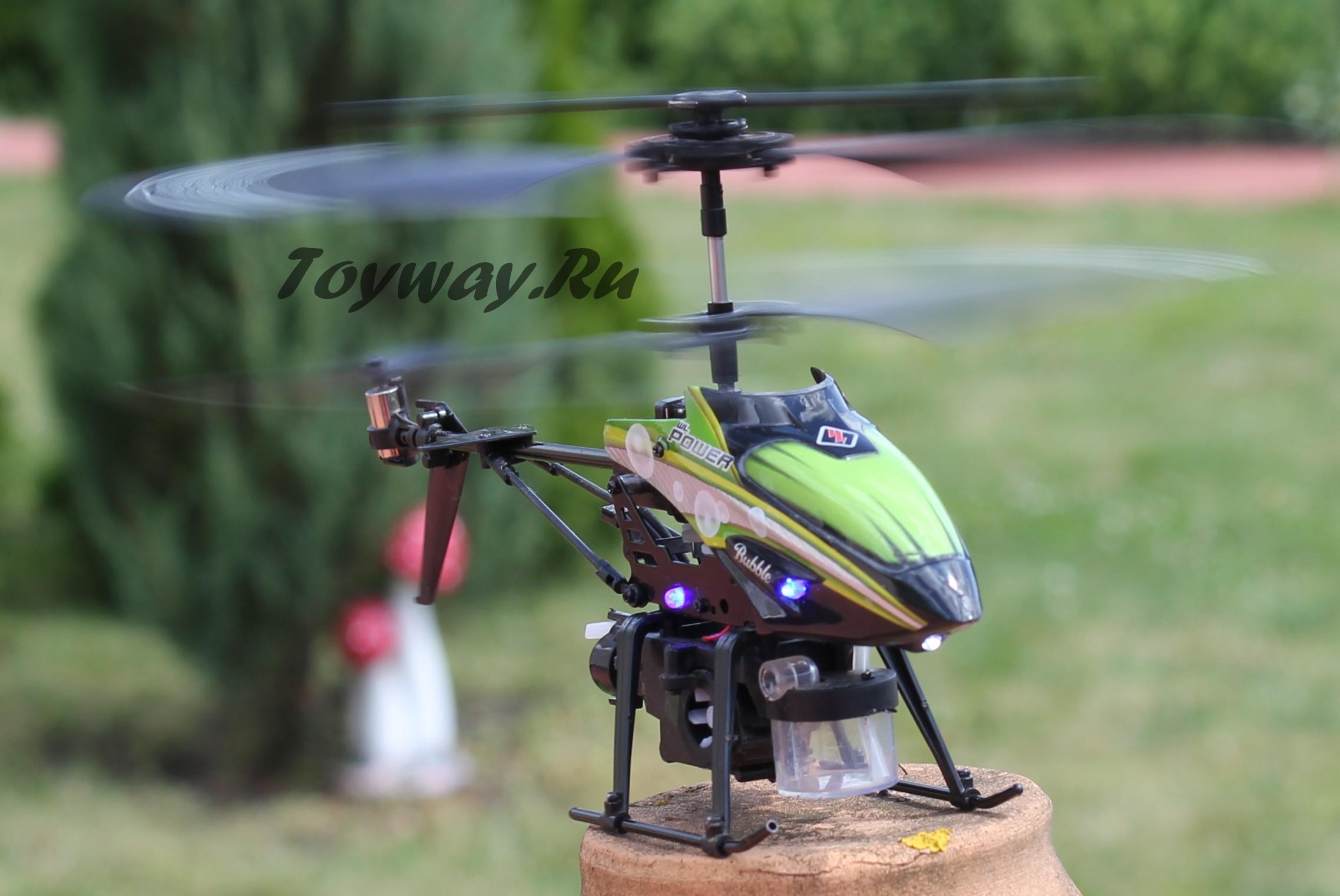 3-х канальный радиоуправляемый вертолёт с гироскопом и мыльными пузырямиРадиоуправляемые вертолеты<br>3-х канальный радиоуправляемый вертолёт с гироскопом и мыльными пузырями<br>