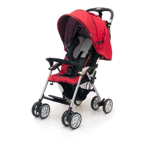 Коляска прогулочная Elegant, Black/RedДетские коляски Capella Jetem, Baby Care<br>Коляска прогулочная Elegant, Black/Red<br>