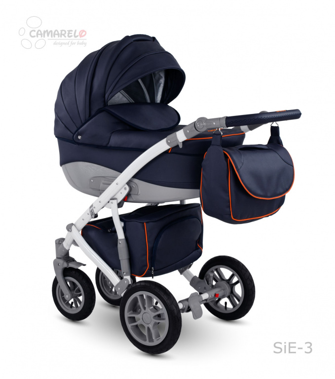 Детская коляска Camarelo Sirion 2 в 1 Eco, синяяДетские коляски 2 в 1<br>Детская коляска Camarelo Sirion 2 в 1 Eco, синяя<br>