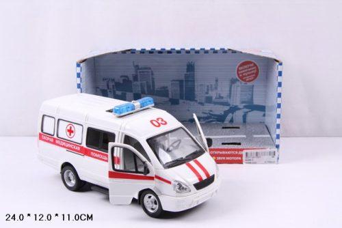 Купить Инерционная машина из сери Автопарк - Газель 3221 скорая, со светом и звуком, открывается дверь, 23 см, Play Smart