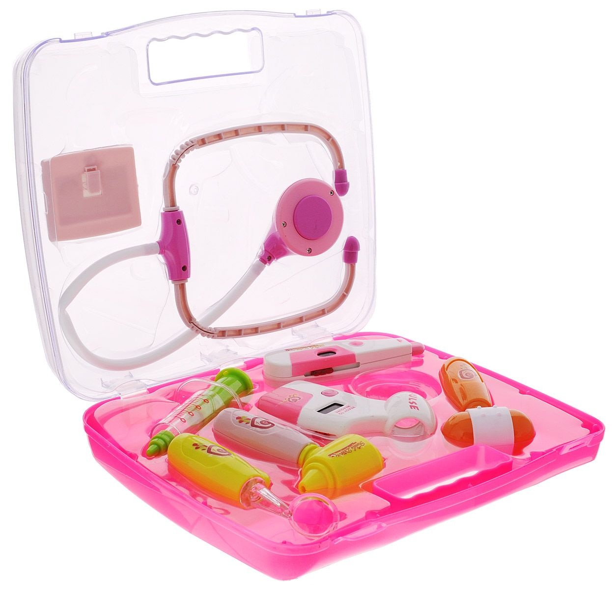 Набор доктора со световыми эффектами, 8 предметов в набореНаборы доктора детские<br>Набор доктора со световыми эффектами, 8 предметов в наборе<br>