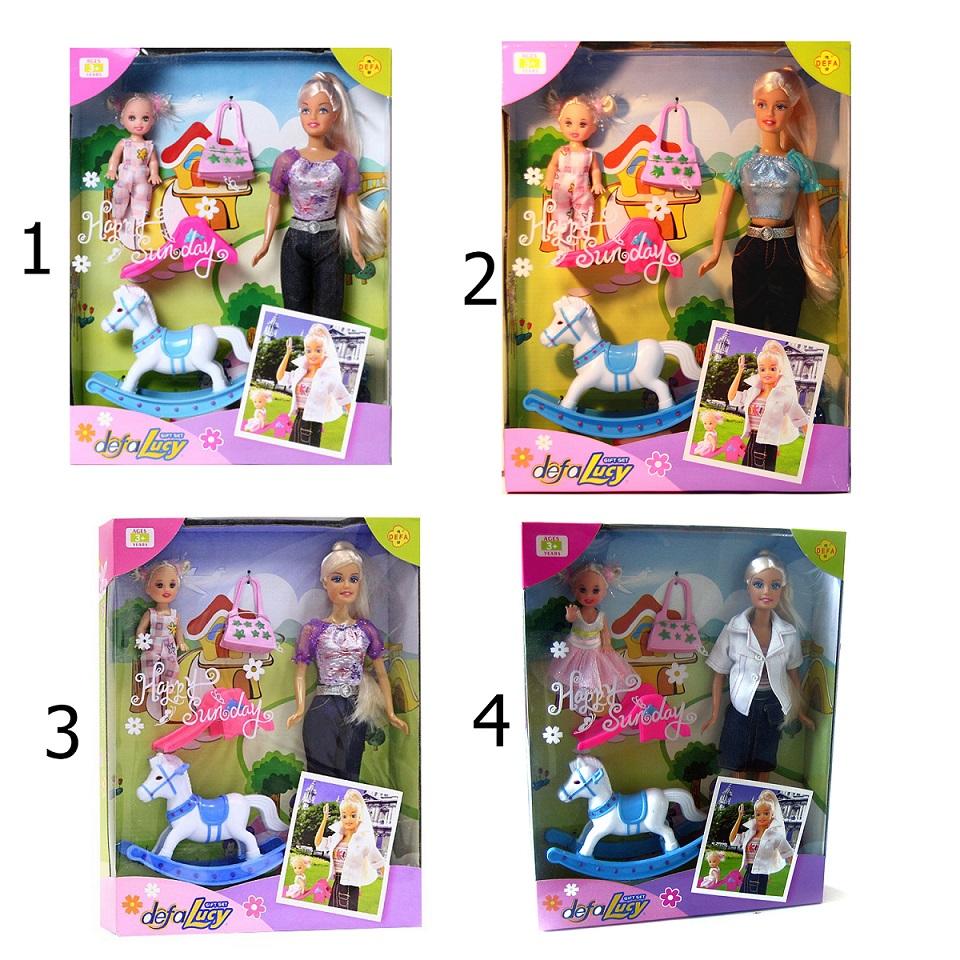 Кукла Defa в наборе с лошадкой, ребенком и аксессуарами, 29 см.Куклы Defa Lucy<br>Кукла Defa в наборе с лошадкой, ребенком и аксессуарами, 29 см.<br>
