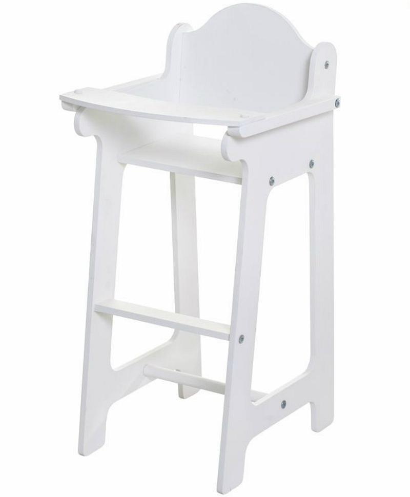 Кукольный стул для кормления, белый Paremo