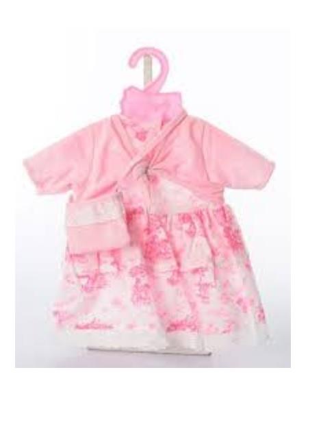 Платье с накидкой и сумочкой для куклы Baby Dolls