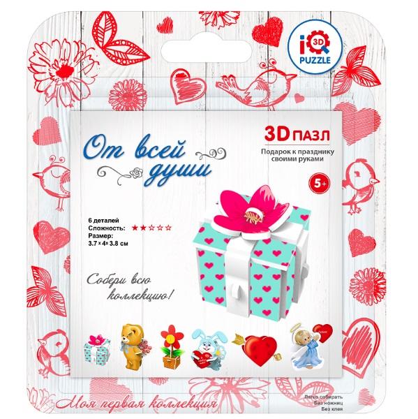 3D пазл – игрушка ПодарокПазлы объёмные 3D<br>3D пазл – игрушка Подарок<br>