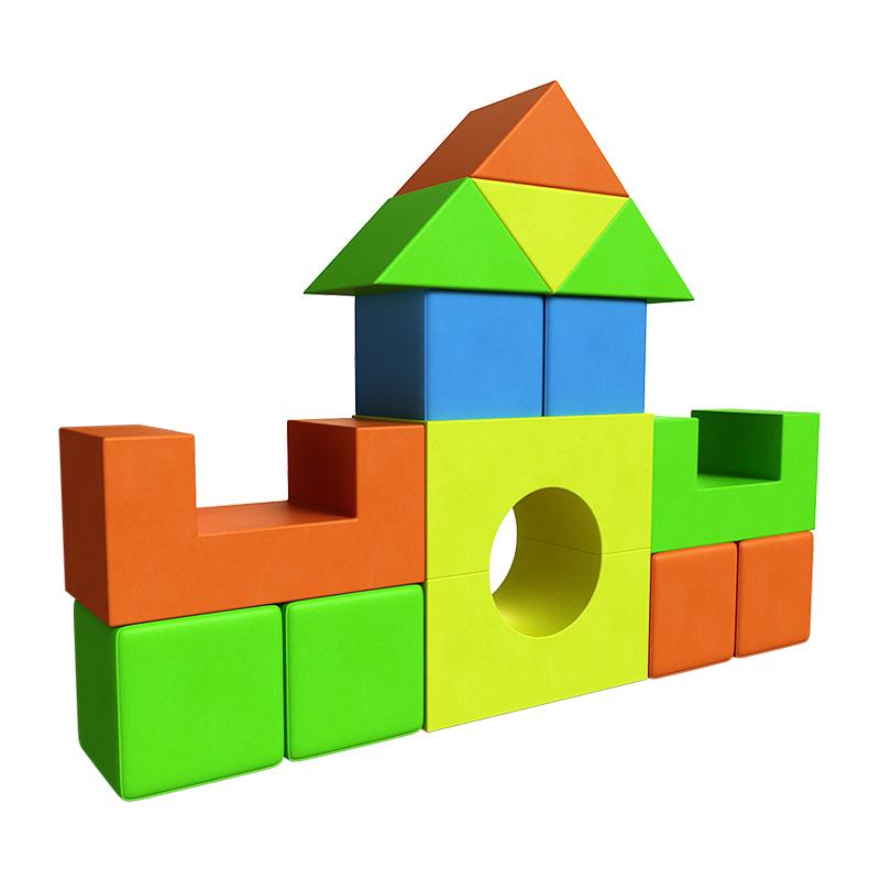 Строительный набор для мягкого игрового комплекса, 14 элементов