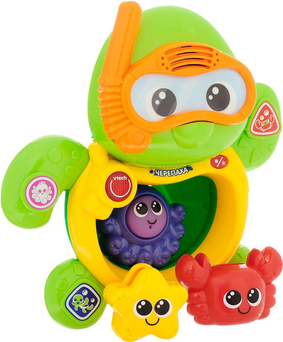 Развивающая игрушка для ванной - Черепаха, со звуковыми эффектами фото