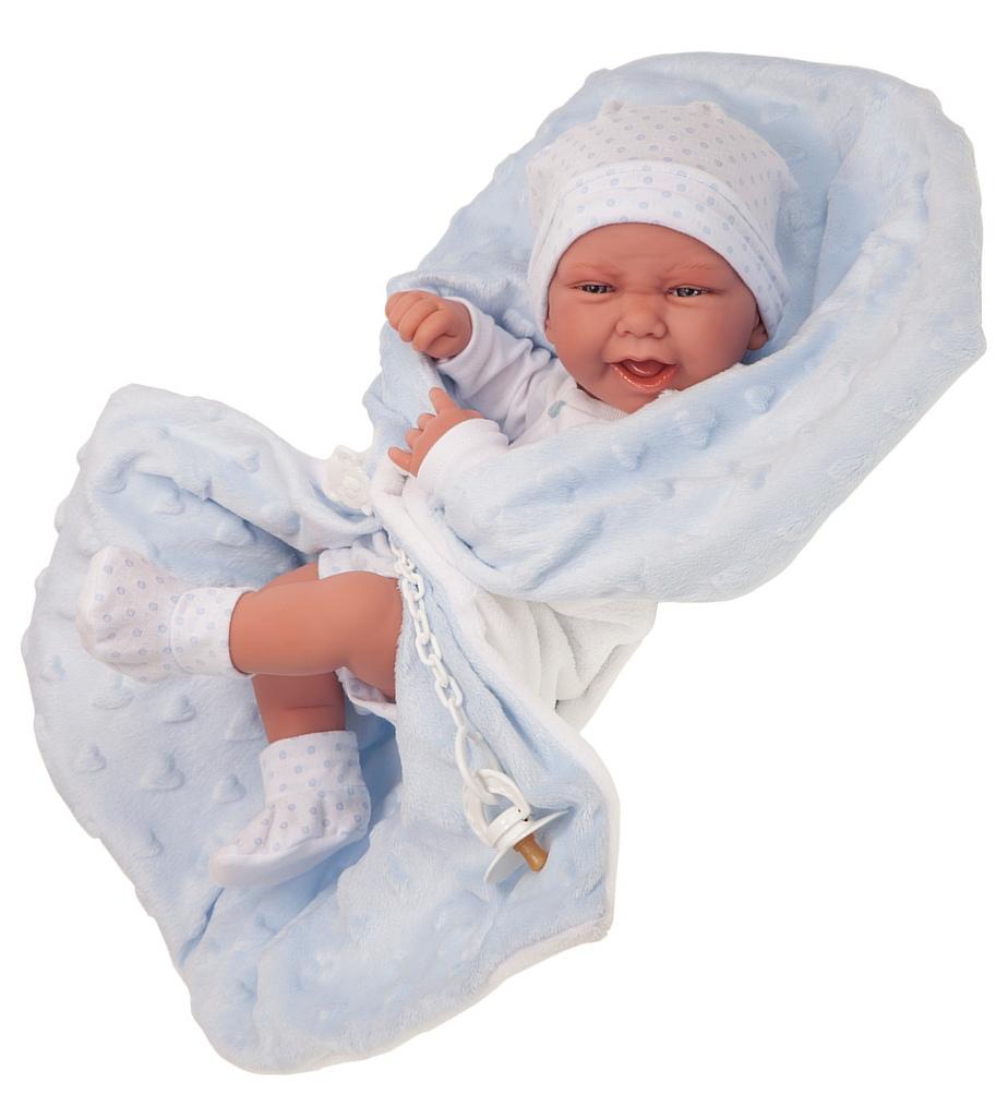 Купить Кукла-младенец - Матео в голубом, 42 см, Antonio Juan Munecas