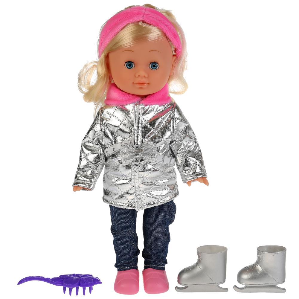 Интерактивная озвученная кукла Ксения фигуристка, 100 фраз и песня Волшебный цветок, 30 см фото