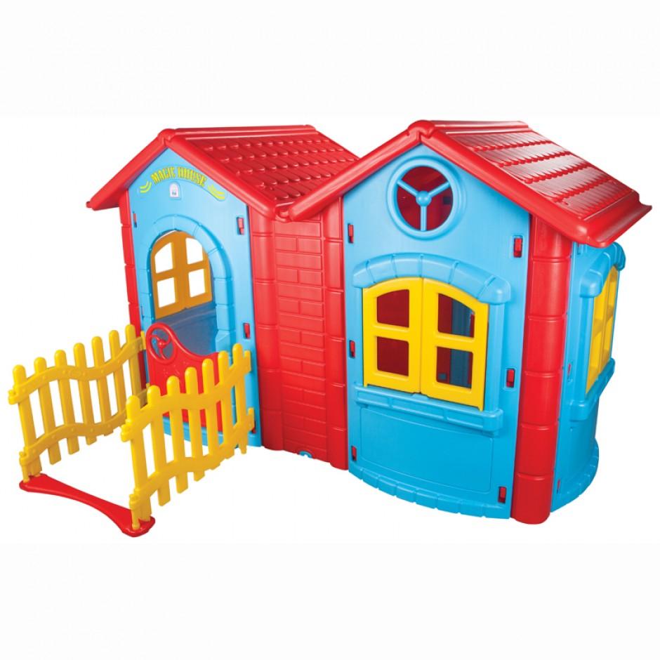 Игровой двухкомнатный домик  Magic Double - Пластиковые домики для дачи, артикул: 160219