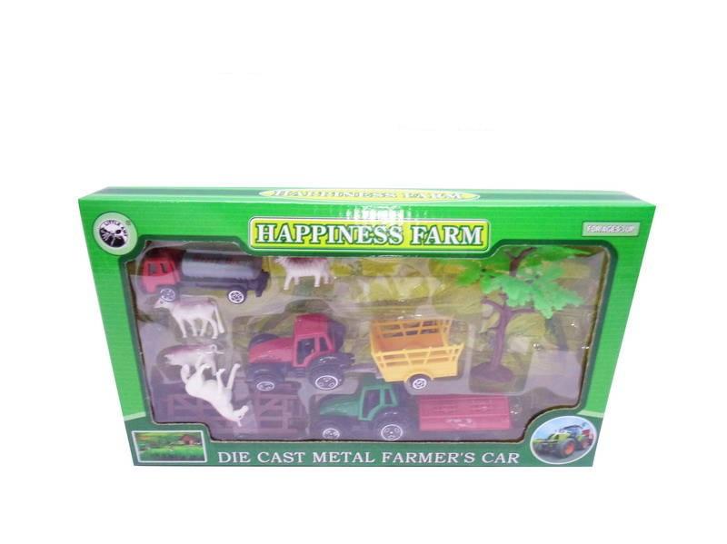 Купить Игровой набор - Ферма, 10 предметов, JUNFA TOYS