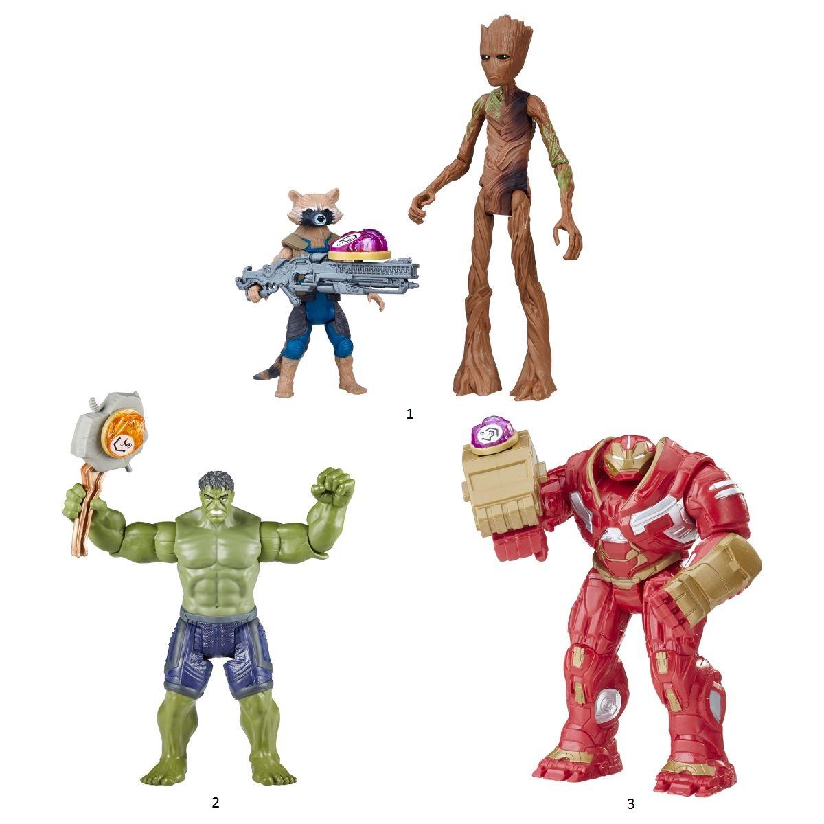 Купить Игровой набор Avengers Movie - Фигурки Мстителей с камнем делюкс, Hasbro