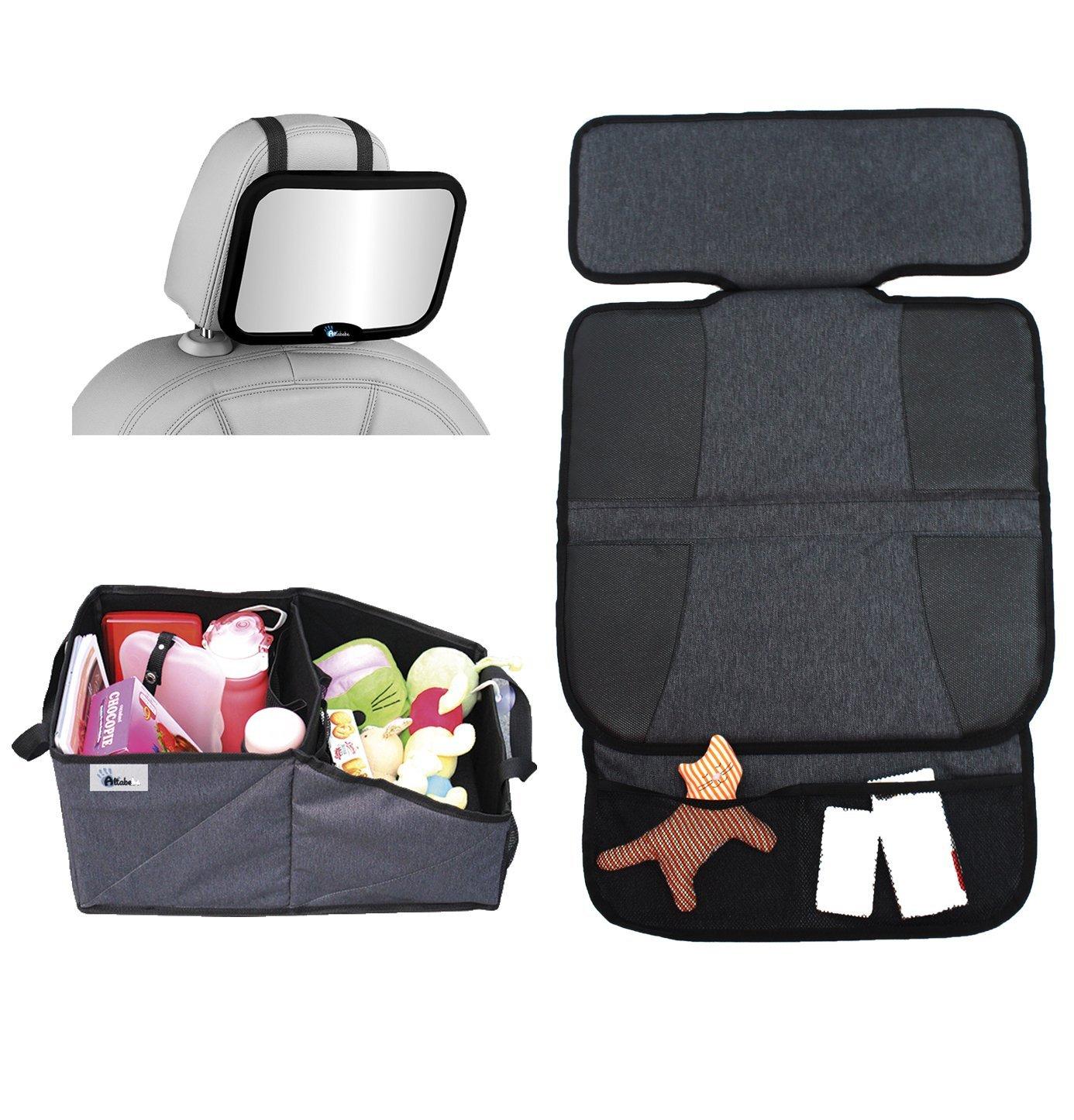 Комплект для поездок: зеркало на спинку, защитный коврик на сиденья и органайзер для автокресла фото