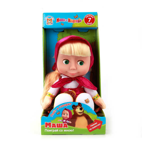 Мягкая игрушка Маша и Медведь - Маша, 29 смГоворящие игрушки<br>Мягкая игрушка Маша и Медведь - Маша, 29 см<br>