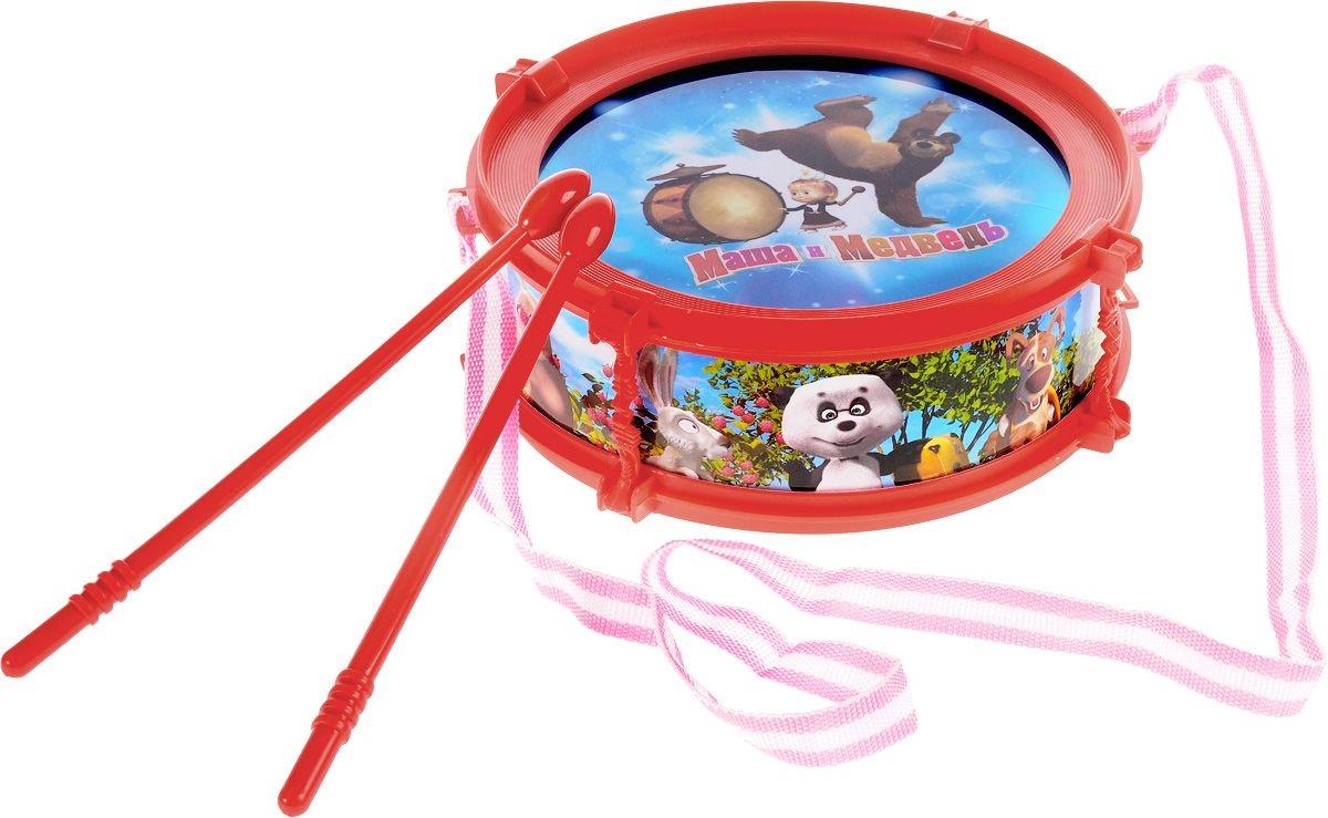 Барабан - Маша и Медведь, со световыми эффектамиБарабаны, маракасы<br>Барабан - Маша и Медведь, со световыми эффектами<br>