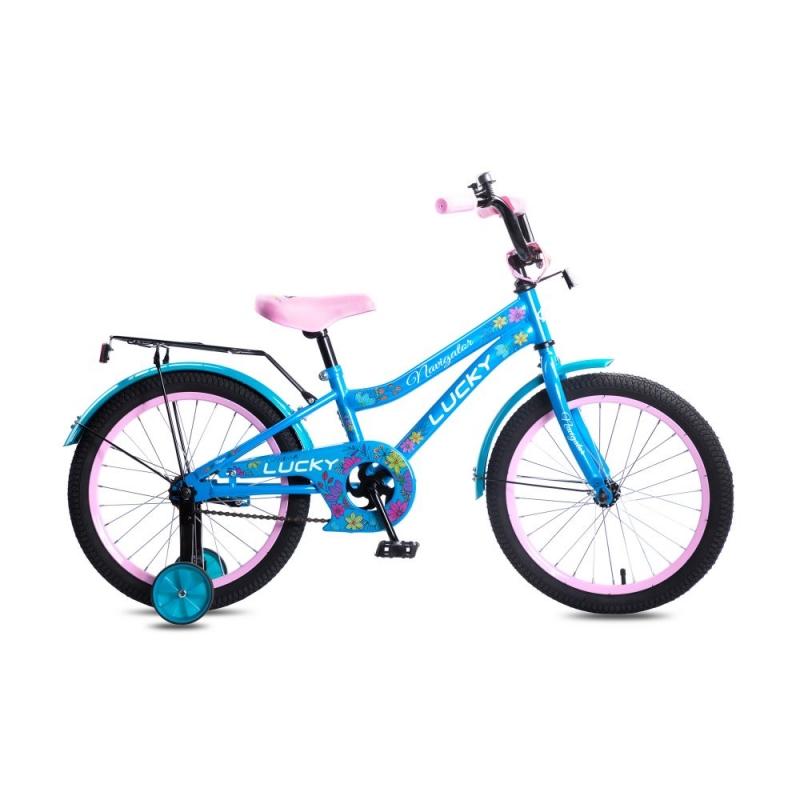 Купить Детский велосипед Lucky для девочек, колеса 18 , стальная рама и обода, ножной тормоз, Navigator
