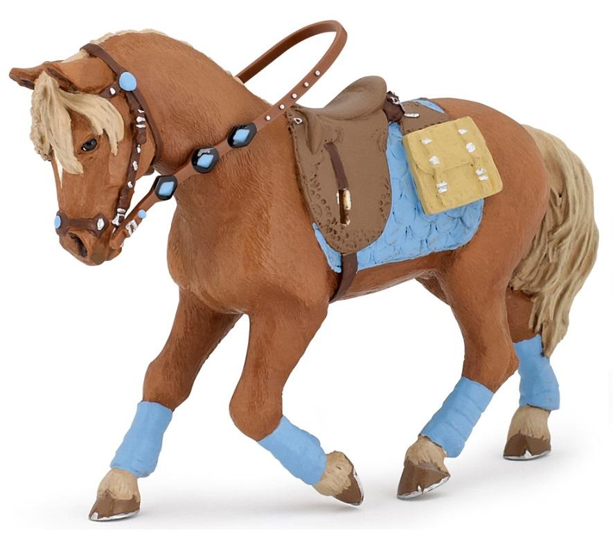 Фигурка - Коричневая лошадь для езды верхомЛошади (Horse)<br>Фигурка - Коричневая лошадь для езды верхом<br>
