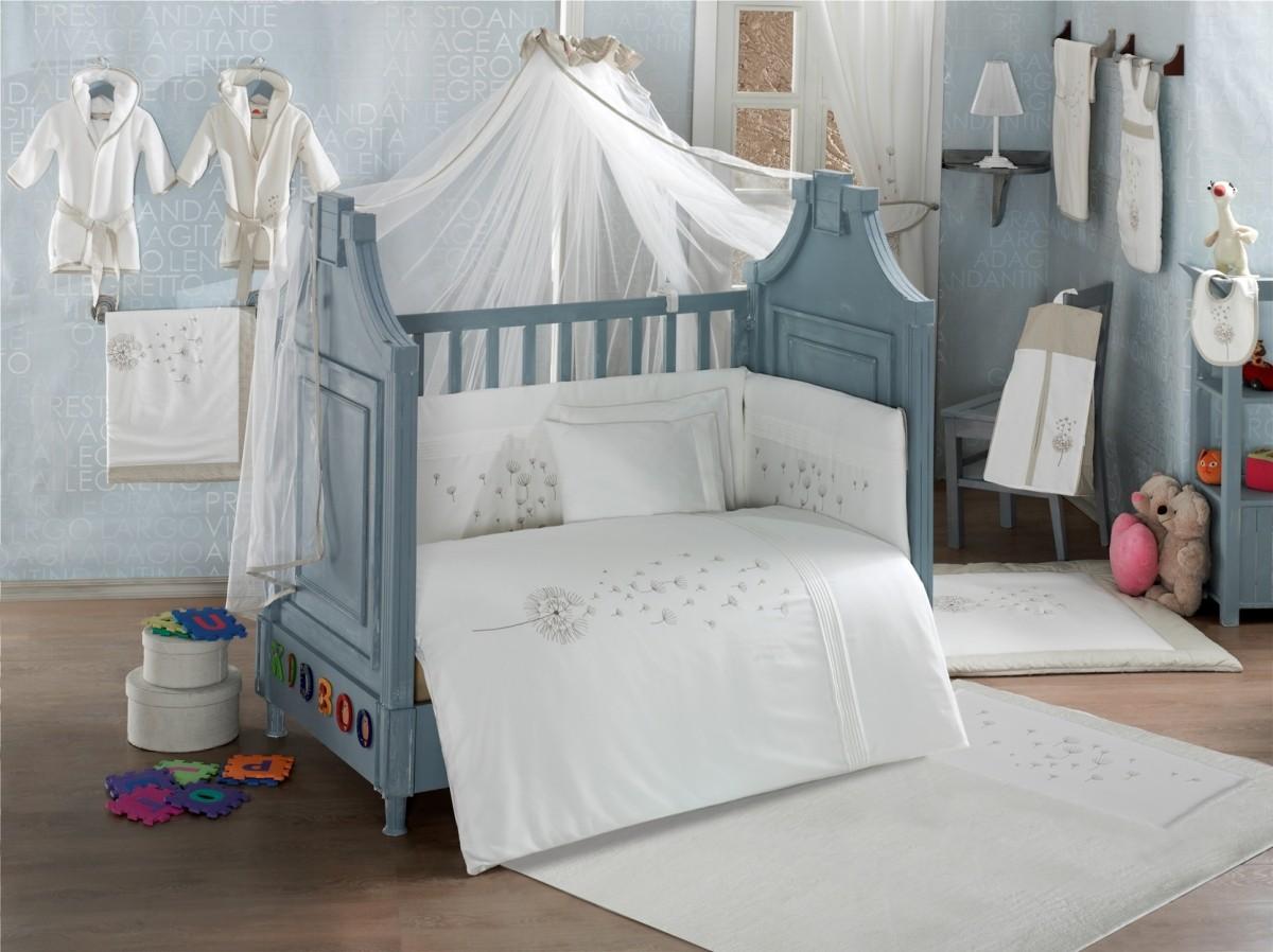 Купить Комплект постельного белья из 3 предметов серия Blossom Saten Vanilla, Kidboo