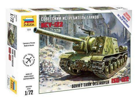 Модель сборная - Советский истребитель танков ИСУ-122Модели танков для склеивания<br>Модель сборная - Советский истребитель танков ИСУ-122<br>