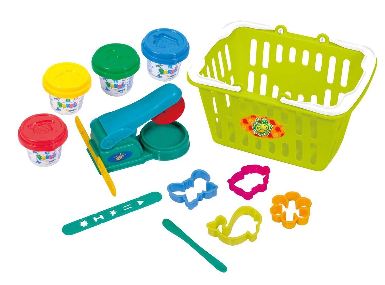 Набор с пластилином и аксессуарами в корзинеНаборы для лепки<br>Набор с пластилином и аксессуарами в корзине<br>