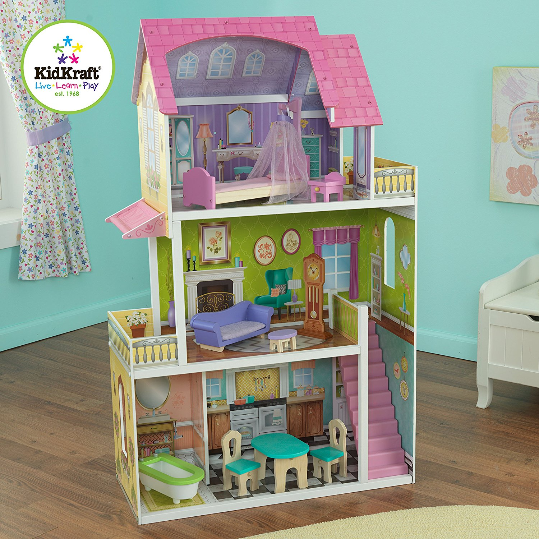 Купить Кукольный домик Барби - Florence Dollhouse - Флоренсс 10 предметами мебели, KidKraft
