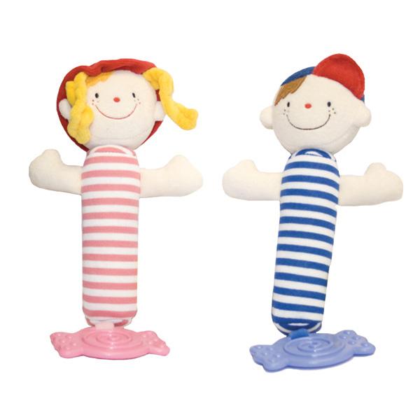 Погремушка-пищалка с прорезывателем ДжулияДетские погремушки и подвесные игрушки на кроватку<br>Погремушка-пищалка с прорезывателем Джулия<br>