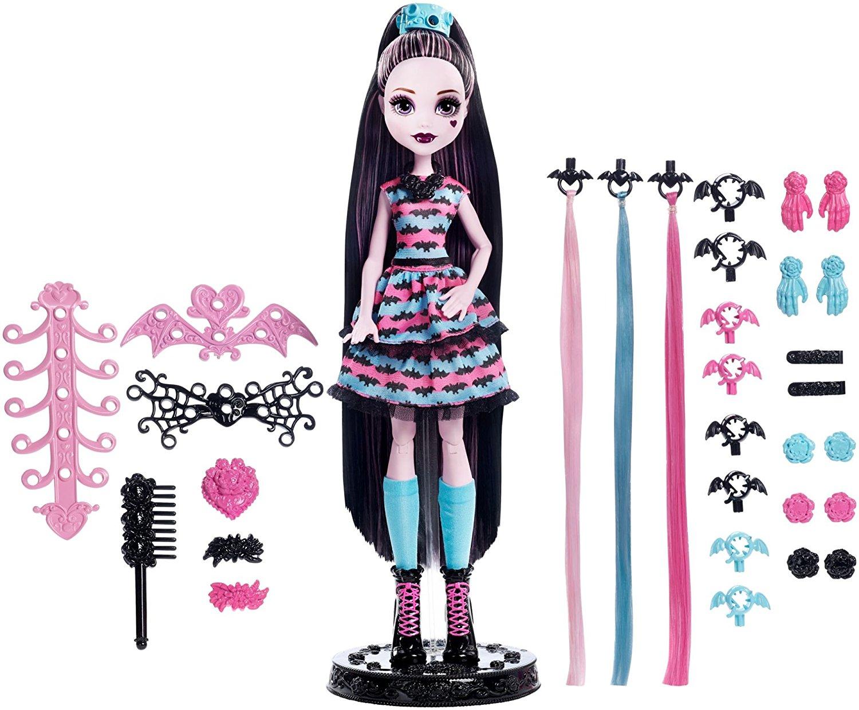 Кукла Дракулаура Стильные прически Monster HighКуклы Ever After High и Monster High<br>Кукла Дракулаура Стильные прически Monster High<br>