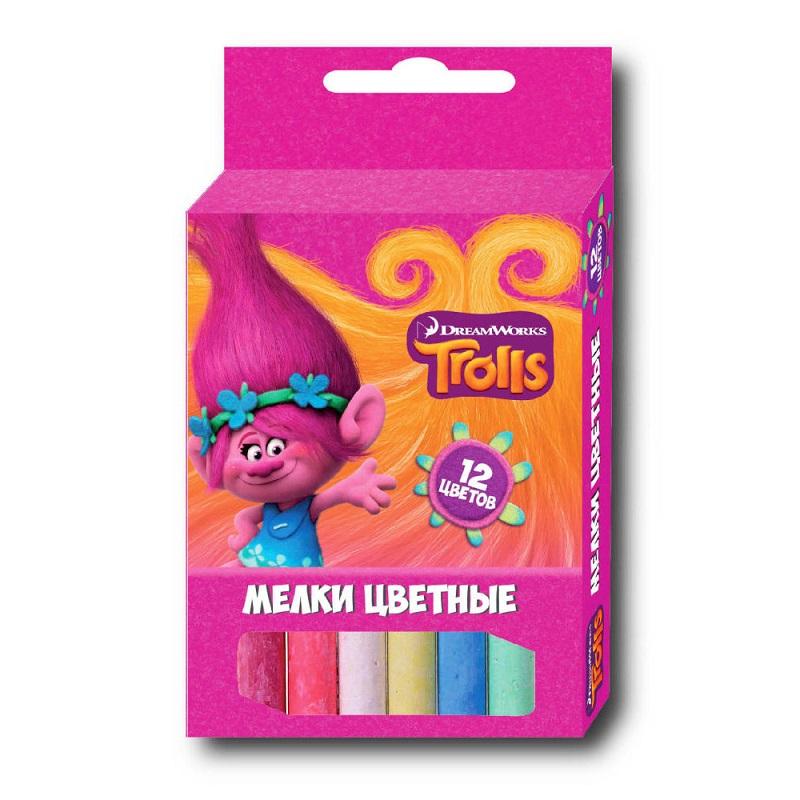 Мелки цветные из серии Тролли, 12 цветовМелки<br>Мелки цветные из серии Тролли, 12 цветов<br>