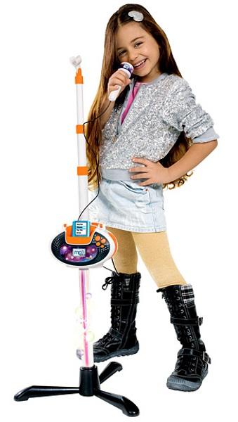 Детский микрофон на стойке, 109 см., совместимый с mp3 - Микрофоны и танцевальные коврики, артикул: 108296