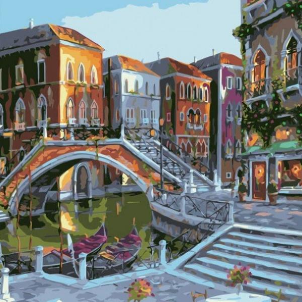 Раскраски по номерам - Картина «Городской пейзаж», 40 х 50 см.Раскраски по номерам Schipper<br>Раскраски по номерам - Картина «Городской пейзаж», 40 х 50 см.<br>