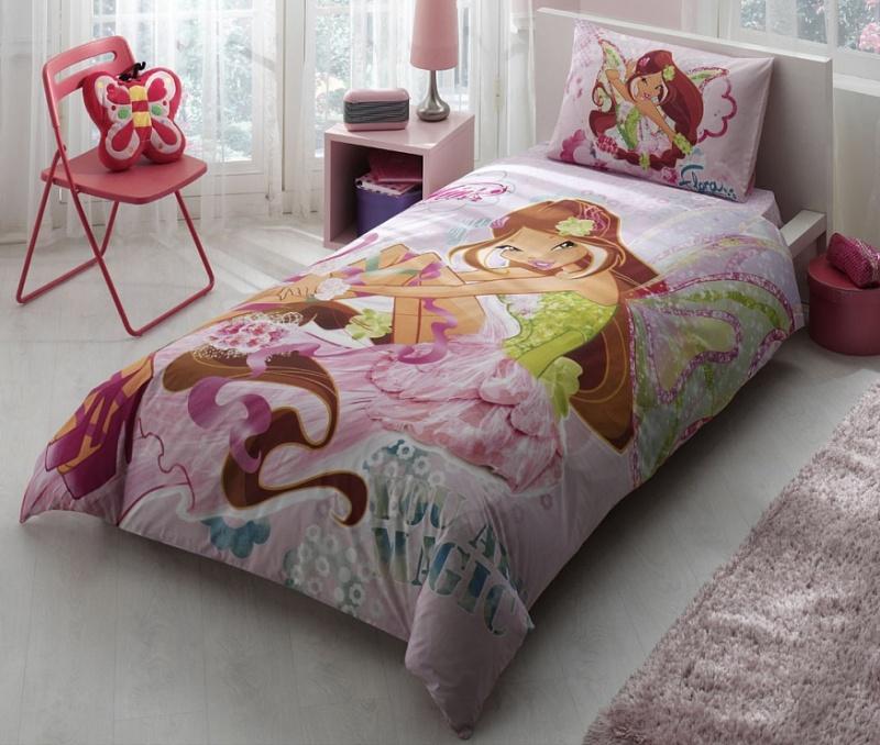 Комплект детского постельного белья, Disney, 1,5 спальное - Winx Harmonix FloraДетское постельное белье<br>Комплект детского постельного белья, Disney, 1,5 спальное - Winx Harmonix Flora<br>