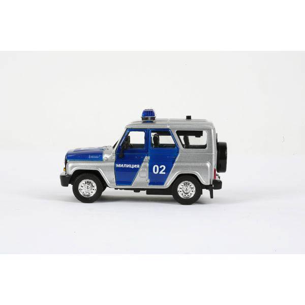 Машина металлическая инерционная - УАЗ - Милиция с сиреной и мигалками sim)УАЗ<br>Машина металлическая инерционная - УАЗ - Милиция с сиреной и мигалками sim)<br>