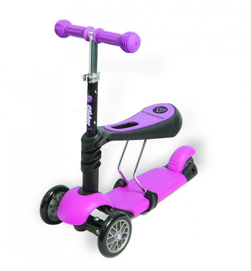 Самокат-каталка Glider Seat, pinkМашинки-каталки для детей<br>Самокат-каталка Glider Seat, pink<br>