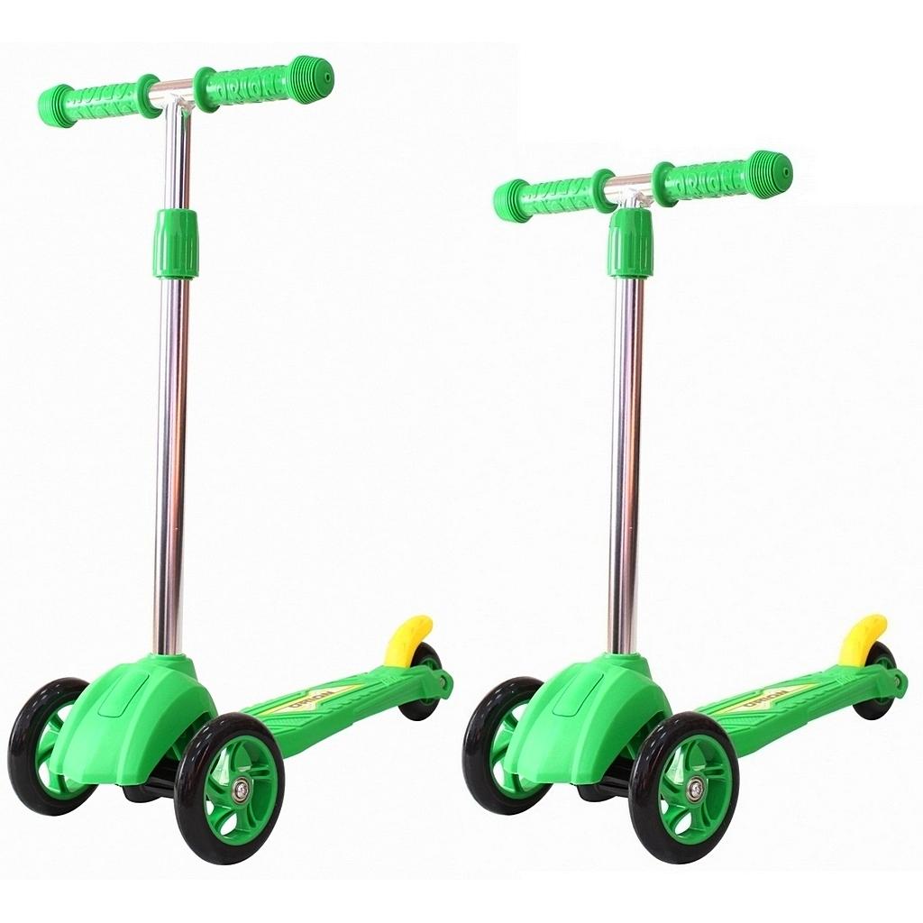Детский трехколесный самокат зеленого цвета RT ORION MINI 164в2Трехколесные самокаты<br>Детский трехколесный самокат зеленого цвета RT ORION MINI 164в2<br>